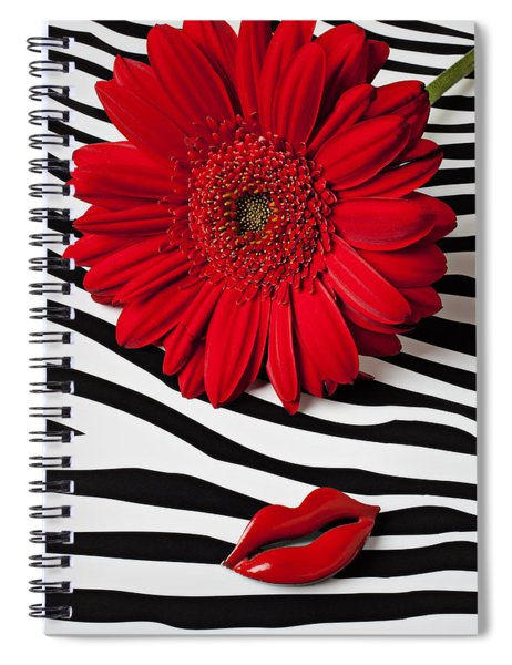 Red Mum And Red Lips Spiral Notebook