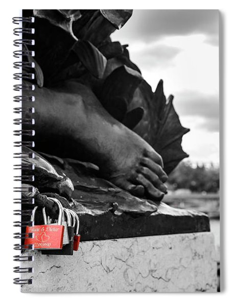 Red Padlocks In Paris Spiral Notebook