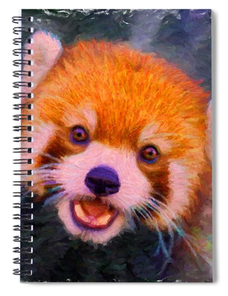 Red Panda Cub Spiral Notebook