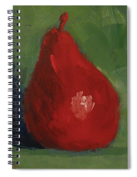Red Pear - Art By Bill Tomsa Spiral Notebook