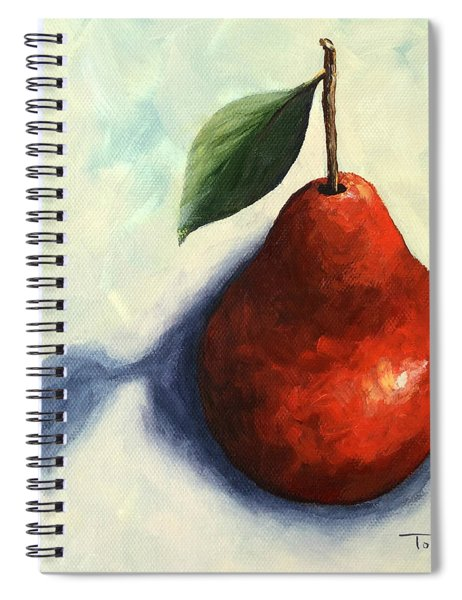 Red Pear In The Spotlight Spiral Notebook