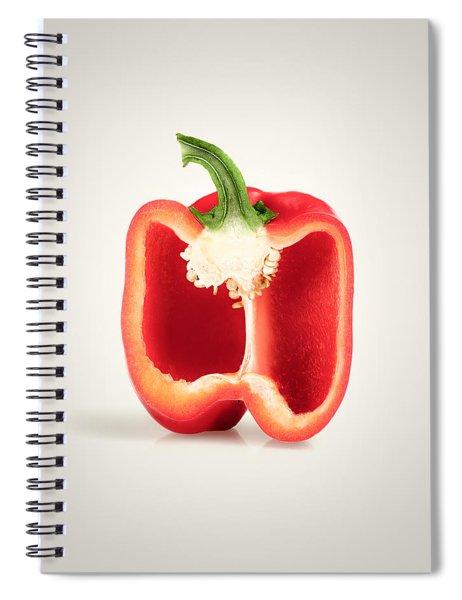Red Pepper Cross-section Spiral Notebook