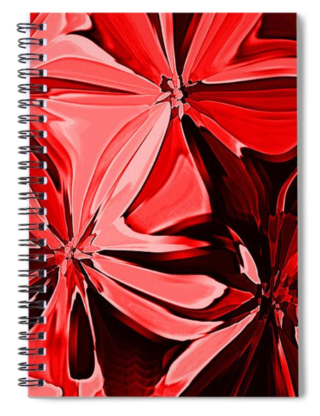 Red Pinched And Gathered Spiral Notebook