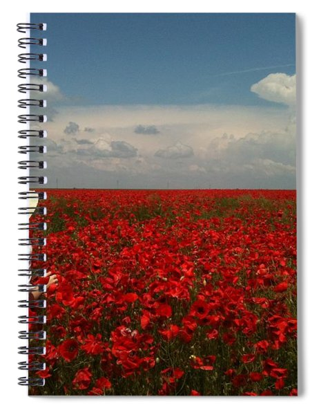 Red Poppies And Lady Spiral Notebook