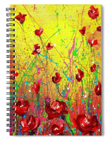 Red Posies Spiral Notebook