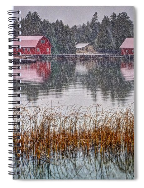 Red Reflection Spiral Notebook