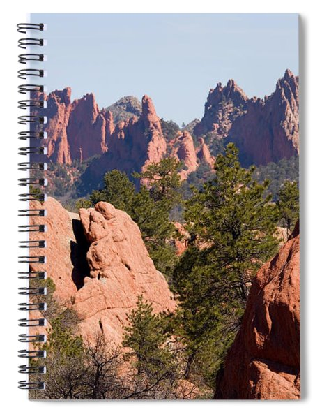 Red Rock Canyon Open Space Park And Garden Of The Gods Spiral Notebook
