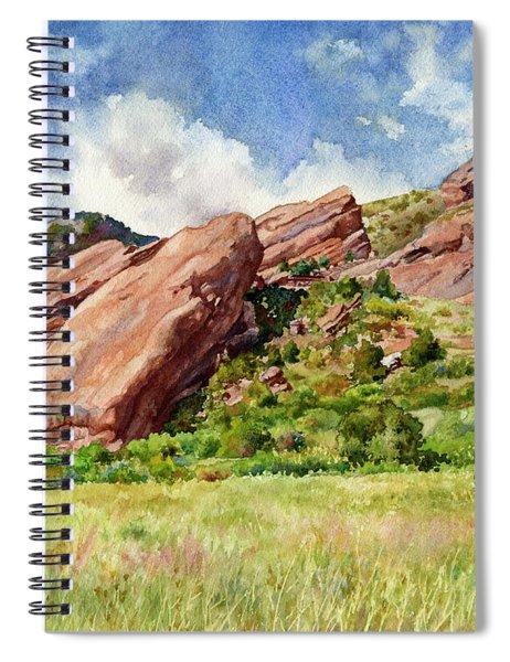 Red Rocks Amphitheatre Spiral Notebook