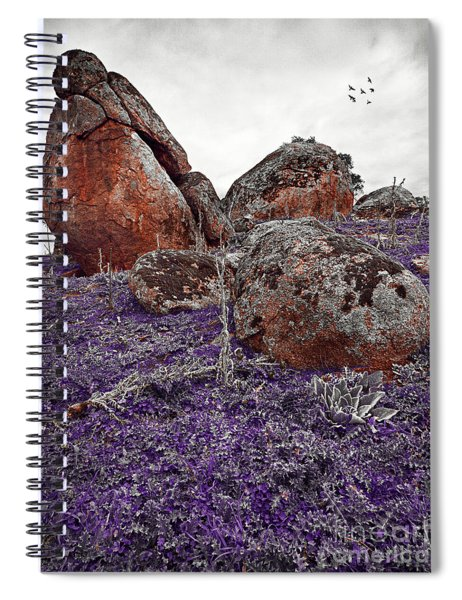 Red Rocks And Thunder Spiral Notebook