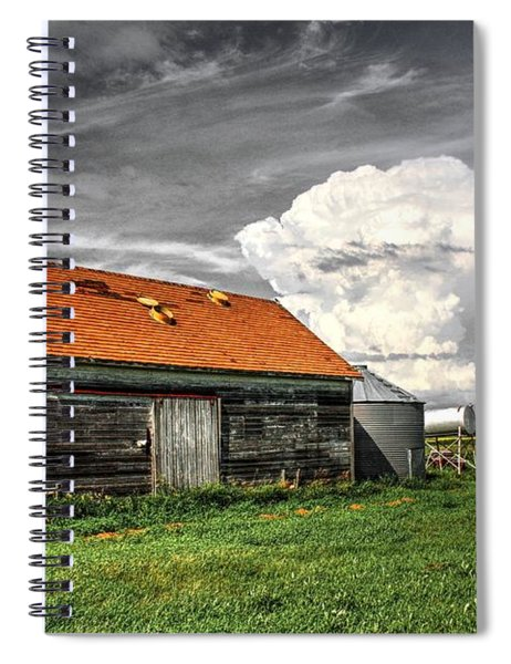 Red Roof Back Sky Spiral Notebook