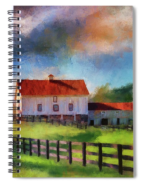 Red Roof Barn Spiral Notebook