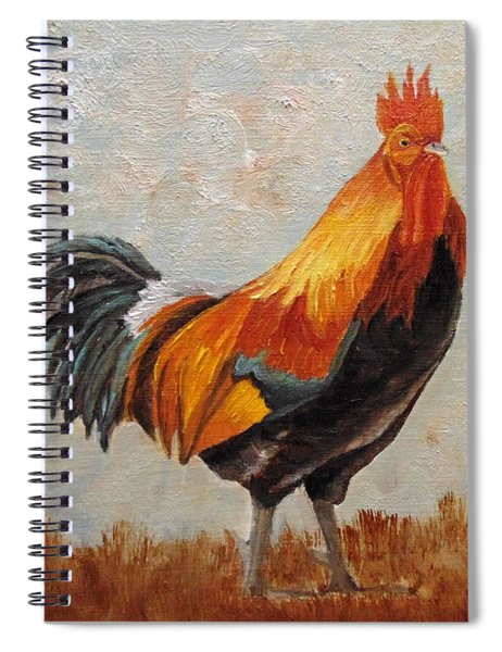 Red Rooster Spiral Notebook