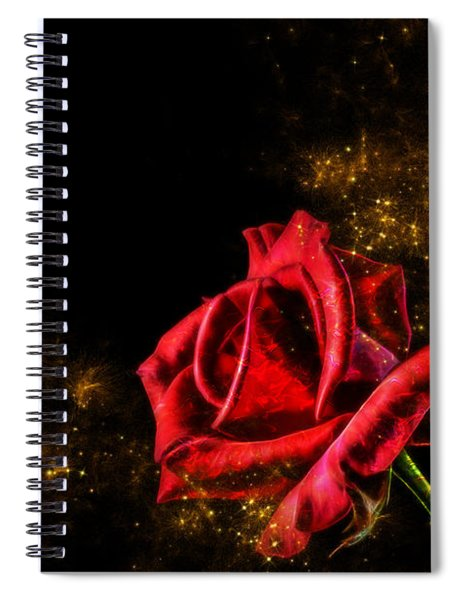 Red Rose With Pixie Dust Spiral Notebook