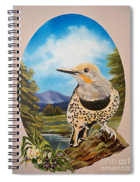 Flying Lamb Productions                       Red Shafted Flicker Spiral Notebook