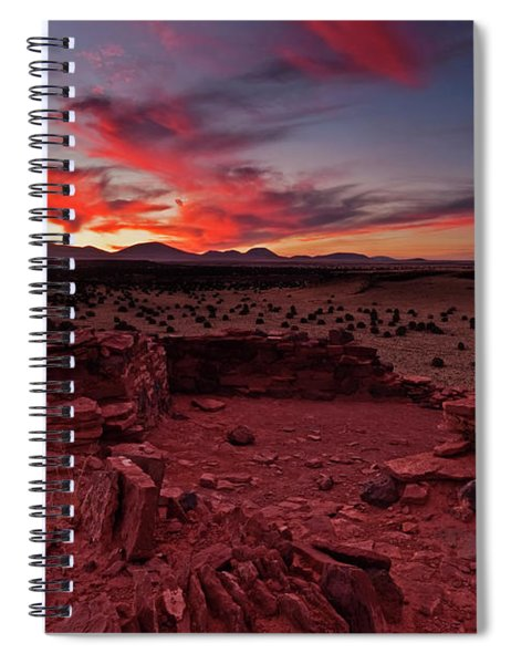 Red Sky Ruins Spiral Notebook