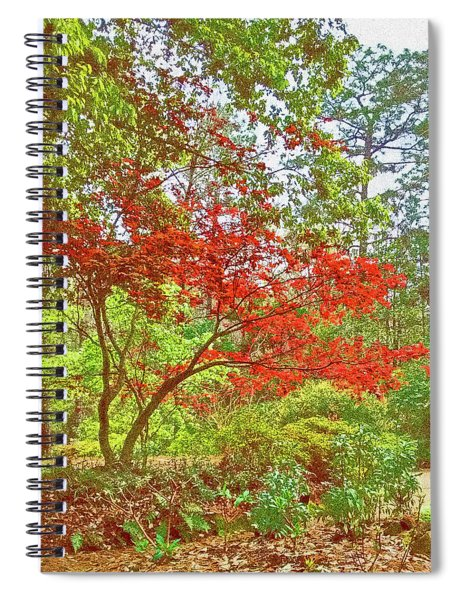 Red Splendor In Film Grain Spiral Notebook