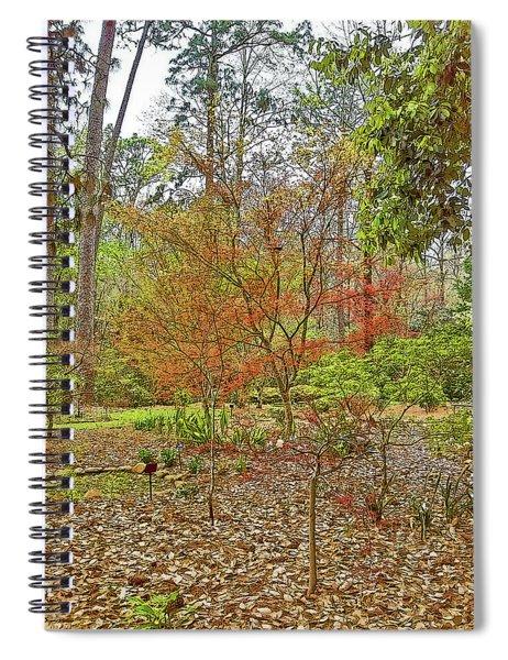 Red Splendor Landscape With Poster Edges Spiral Notebook