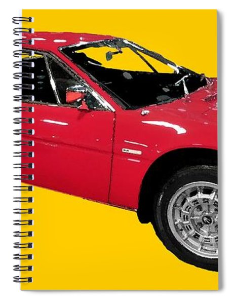 Red Sport Car Art Spiral Notebook