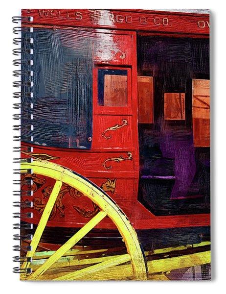 Red Stagecoach Spiral Notebook