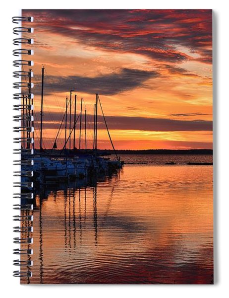 Red  Sunrise Spiral Notebook