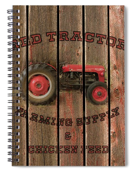 Red Tractor Farming Supply Spiral Notebook