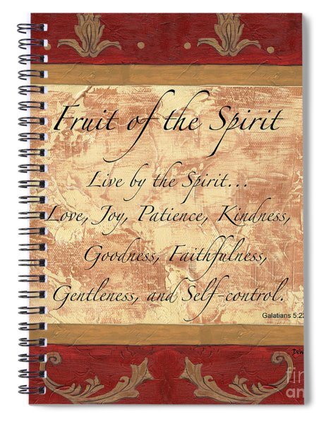 Red Traditional Fruit Of The Spirit Spiral Notebook