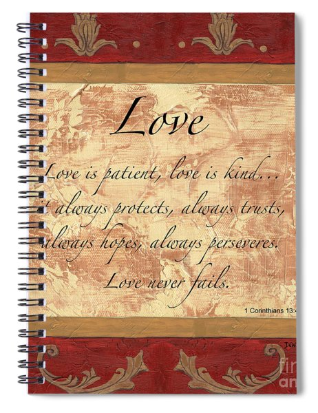 Red Traditional Love Spiral Notebook