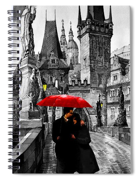 Red Umbrella Spiral Notebook