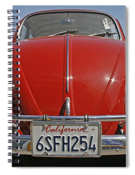 Red Volkswagen Beetle Spiral Notebook