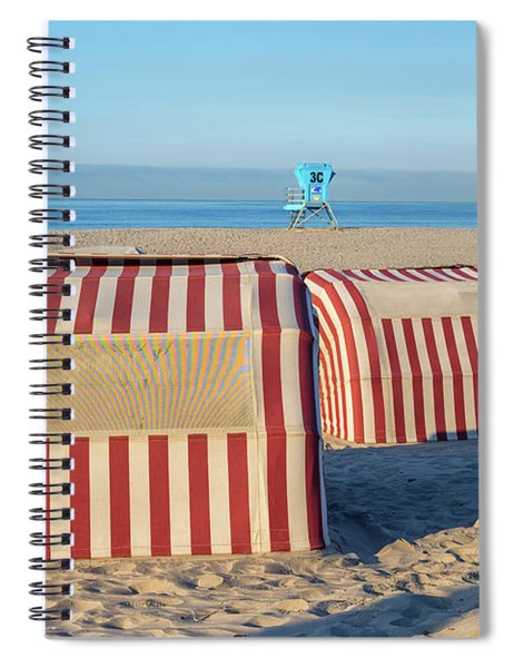 Red White And Sandy Spiral Notebook