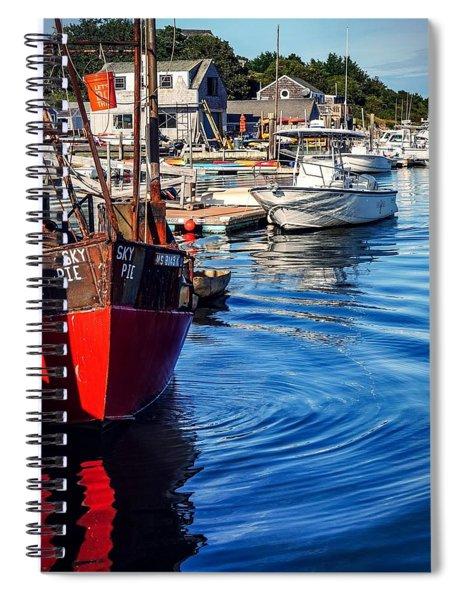 Red White Blue Spiral Notebook