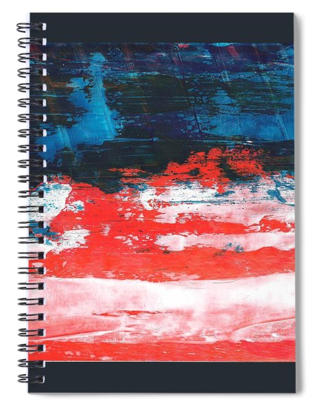 Red White Blue Scene Spiral Notebook