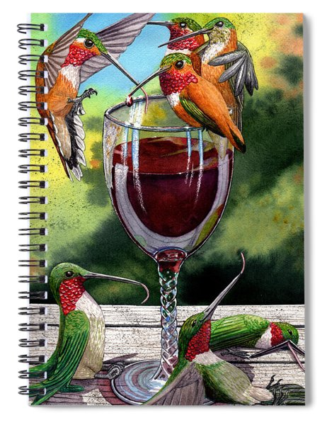 Red Winos Spiral Notebook