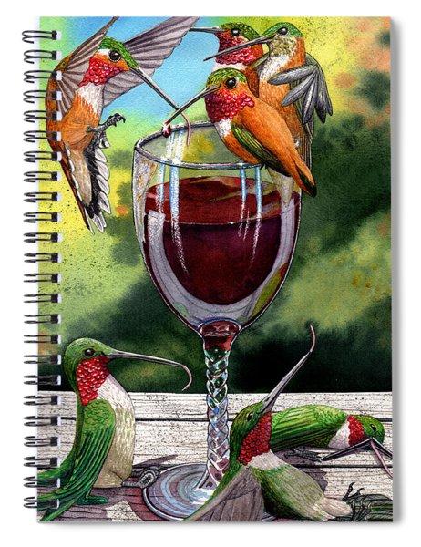 Red Winos Spiral Notebook