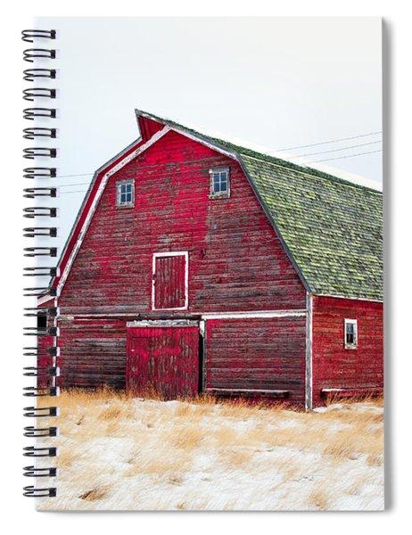 Red Winter Barn Spiral Notebook