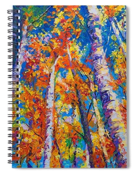 Redemption - Fall Birch And Aspen Spiral Notebook