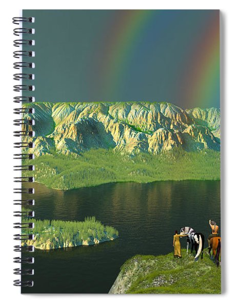 Redemption For An Angry Sky Spiral Notebook