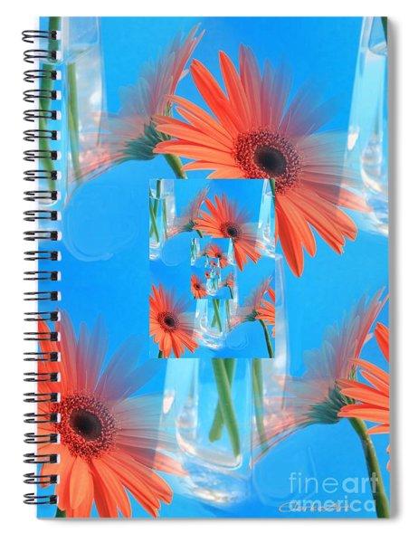 Redundant Gerbera Daisy Spiral Notebook