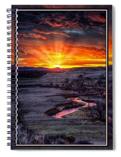 Redwater River Sunrise Spiral Notebook