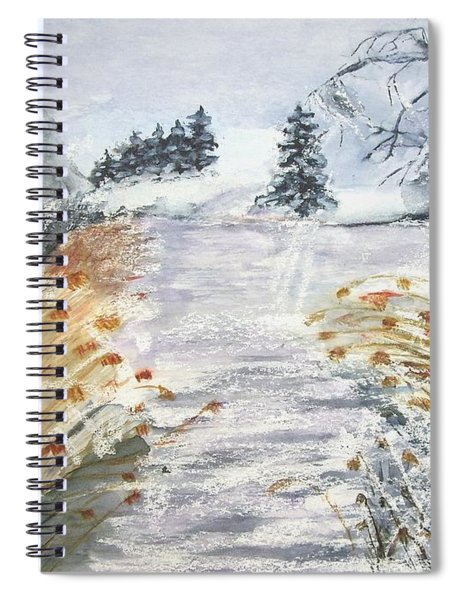 Reeds On The Riverbank No.2 Spiral Notebook