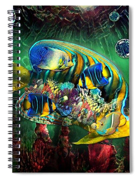 Reef Fish Fantasy Art Spiral Notebook