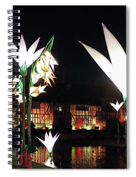 Reflected Glowing Flowers Wisley Spiral Notebook