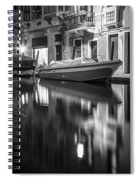 Reflecting On The Canal In Venice  Spiral Notebook