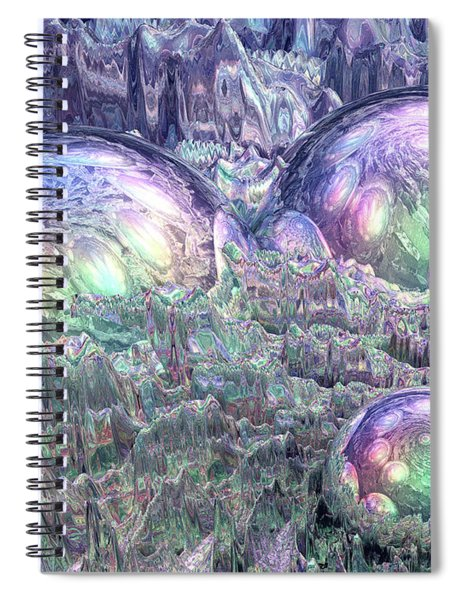 Reflecting Spheres In Space Spiral Notebook