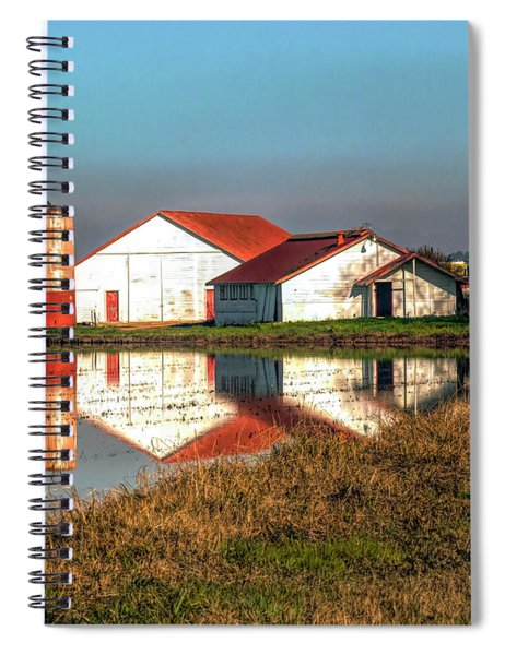 Reflection Barn  Spiral Notebook
