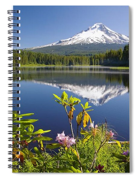 Reflection Of Mount Hood In Trillium Spiral Notebook