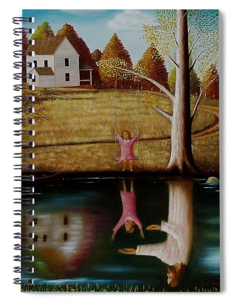 Reflection Of Protection. Spiral Notebook