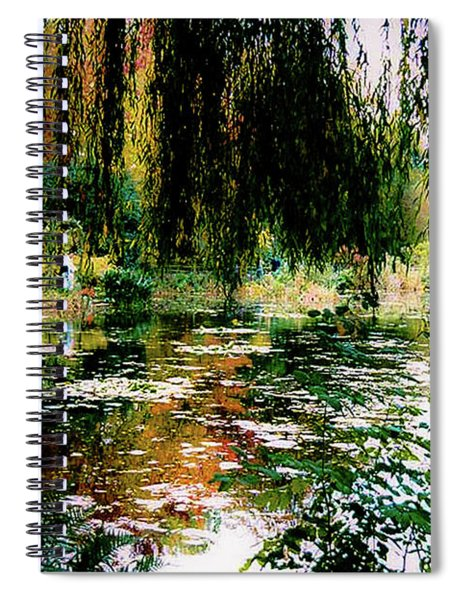 Reflection On Oscar - Claude Monet's Garden Pond Spiral Notebook