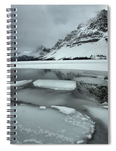Reflections Among The Bow Lake Ice Chunks Spiral Notebook