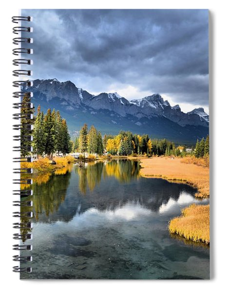 Reflections In Canmore Spiral Notebook